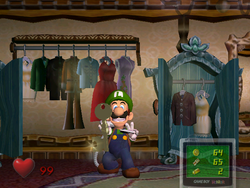 The Wardrobe Room from Luigi's Mansion