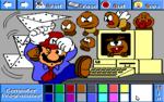 Mario as a computer programmer.