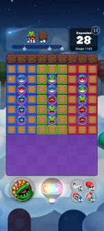Stage 1163 from Dr. Mario World
