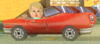 A Mii Driver from Mario Kart Wii