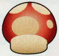 Artwork of a Mushroom from Super Mario Advance