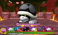 Screenshot of World 5-Castle, from Puzzle & Dragons: Super Mario Bros. Edition.
