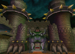 The icon for Bowser's Castle, from Mario Kart Double Dash!!.