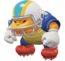 A Chargin' Chuck in Super Mario Odyssey