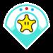 Rosalina's emblem from baseball from Mario Sports Superstars