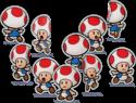 Paper Toads in Mario & Luigi: Paper Jam.