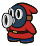 Red Snifit sprite from Paper Mario: Color Splash