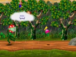 The minigame Piranha's Pursuit.