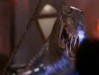 Koopa having devolved into a Tyrannosaurus rex, then into primeval slime.
