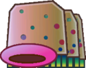 Sprite of a Shlorp from Super Paper Mario.