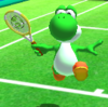 Yoshi's taunt from Mario Sports Superstars