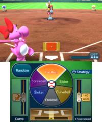 Batting Practice in baseball in Mario Sports Superstars