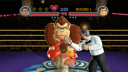 Donkey Kong as he appears in the Wii version of Punch-Out!!