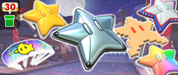 The Starry Gliders Pipe from the 2020 Winter Tour in Mario Kart Tour