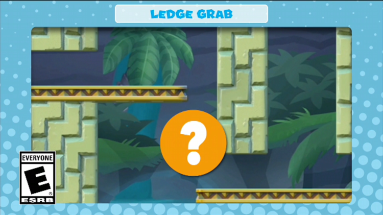 A frame of the video shown with the third question in Mini Mario & Friends: amiibo Challenge Trivia Quiz
