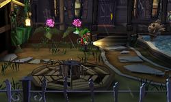 The Patio segment from Luigi's Mansion: Dark Moon.