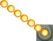 Artwork from a Fire Bar, from Super Mario Maker for Nintendo 3DS.