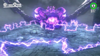 The second attack of the Ruined Dragon during the rematch in Peach's Castle in Super Mario Odyssey.