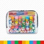 Mario character lip balm set from Super Nintendo World