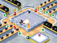 Wario in Shoot Yer Mouth Off from Mario Party 6