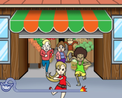 Closing Time in WarioWare: Smooth Moves.