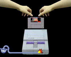 Super Nostalgic Entertainment System in WarioWare: Smooth Moves.