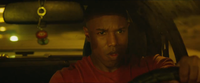 A Fire Flower keychain in Johnny Storm's car in Fantastic Four (2015 film)