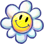 Artwork of a Flower, from Yoshi's New Island.