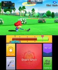 Ring Challenge in golf in Mario Sports Superstars