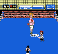 Screenshot of Mario from Mike Tyson's Punch Out!