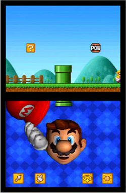 Screenshot from the unreleased tech demo, Mario's Face