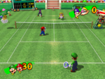 Peach Dome Grass Court from Mario Power Tennis.