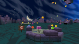 """A screenshot of Boo Moon Galaxy during the """"Silver Star Pop-Up"""" mission from Super Mario Galaxy 2."""