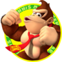 The icon artwork for Donkey Kong from Mario Tennis Open