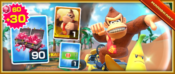 The Donkey Kong Pack from the Halloween Tour (2019) in Mario Kart Tour