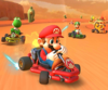 The icon of the Yoshi Cup challenge from the Ice Tour in Mario Kart Tour.