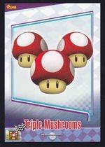 Mario Kart Wii trading card of the Triple Mushroom.