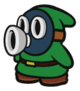 Green Snifit sprite from Paper Mario: Color Splash