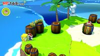 One of two Hidden? Blocks on Spade Island in Paper Mario: The Origami King