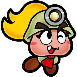 Goombella in the game Paper Mario: The Thousand-Year Door.