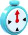 Artwork of a + Clock from Super Mario 3D World.
