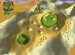 Hole 12 of Shy Guy Desert from Mario Golf