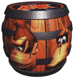 Artwork of a Tag Barrel from Donkey Kong 64.