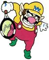 Mario Tennis (GBC) artwork: Wario