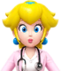 Sprite of Dr. Peach from Dr. Mario World