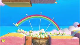 Fluffin' Puffin Babysitting in Yoshi's Woolly World