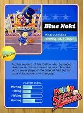 Level 1 Blue Noki card from the Mario Super Sluggers card game
