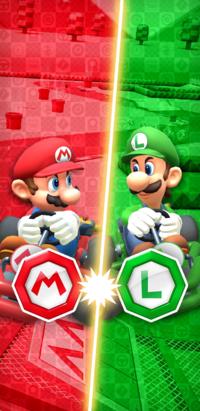 Mario vs. Luigi Tour from Mario Kart Tour