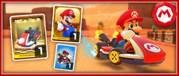 The Red Standard 8 Pack from the Mario vs. Luigi Tour in Mario Kart Tour