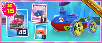 The Steel Driver Pack from the Sydney Tour in Mario Kart Tour